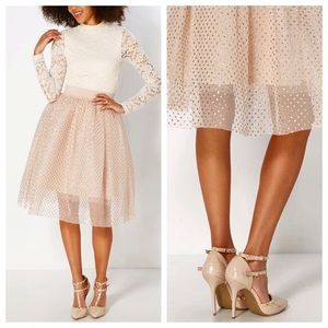 Dresses & Skirts - Gold polka dot tulle tutu skirt